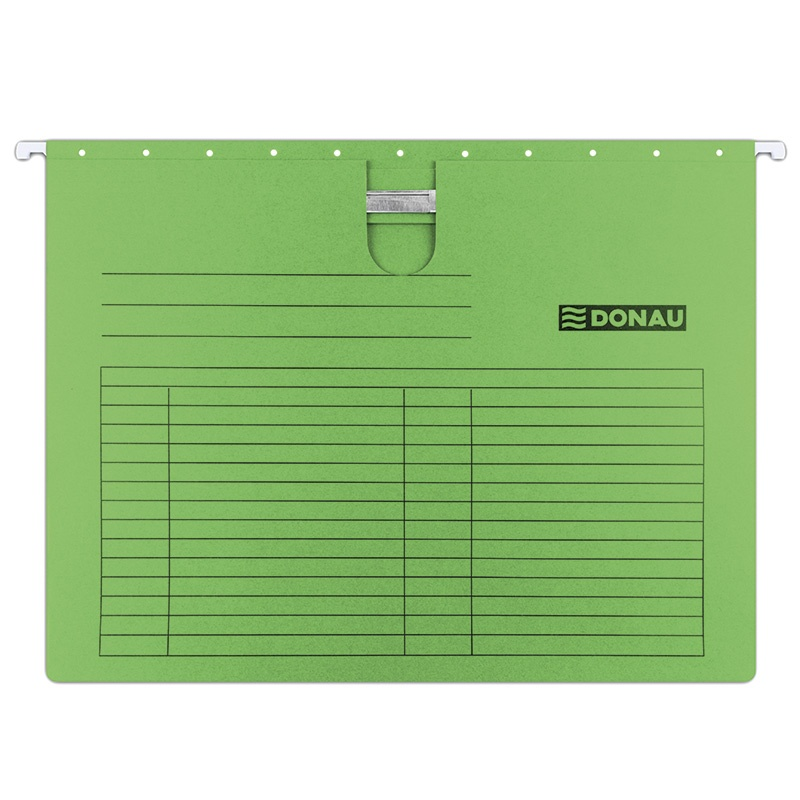 Suspension File DONAU with filling strip fastener, A4, 230gsm, green