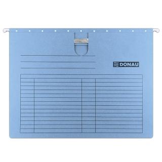 Teczka zawieszkowa DONAU z wąsem, A4, 230gsm, niebieska, Teczki zawieszkowe, Archiwizacja dokumentów