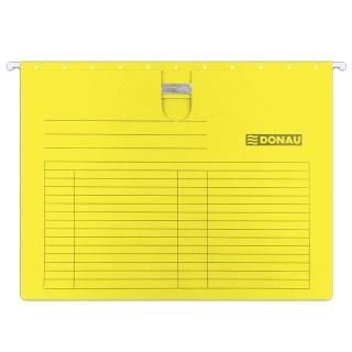 Teczka zawieszkowa DONAU z wąsem, A4, 230gsm, żółta, Teczki zawieszkowe, Archiwizacja dokumentów