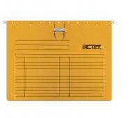 Teczka zawieszkowa DONAU z wąsem, A4, 230gsm, pomarańczowa, Teczki zawieszkowe, Archiwizacja dokumentów