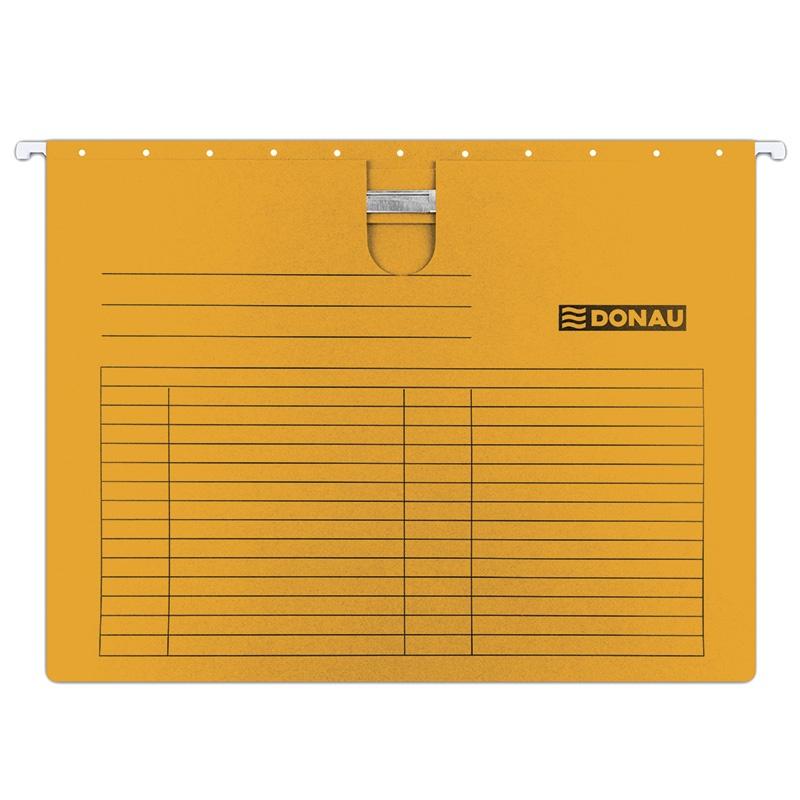 Suspension File DONAU with filling strip fastener, A4, 230gsm, orange