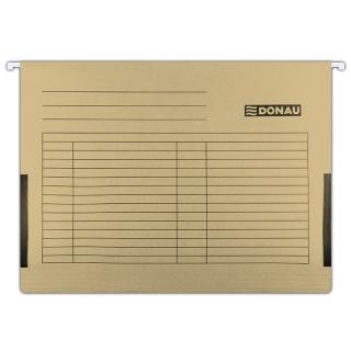 Teczka zawieszkowa DONAU z boczkami, A4, 230gsm, brązowa, Teczki zawieszkowe, Archiwizacja dokumentów