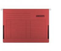 Teczka zawieszkowa DONAU z boczkami, A4, 230gsm, czerwona, Teczki zawieszkowe, Archiwizacja dokumentów