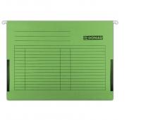 Teczka zawieszkowa DONAU z boczkami, A4, 230gsm, zielona, Teczki zawieszkowe, Archiwizacja dokumentów