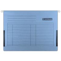 Teczka zawieszkowa DONAU z boczkami, A4, 230gsm, niebieska, Teczki zawieszkowe, Archiwizacja dokumentów