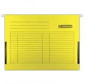 Teczka zawieszkowa DONAU z boczkami, A4, 230gsm, żółta, Teczki zawieszkowe, Archiwizacja dokumentów
