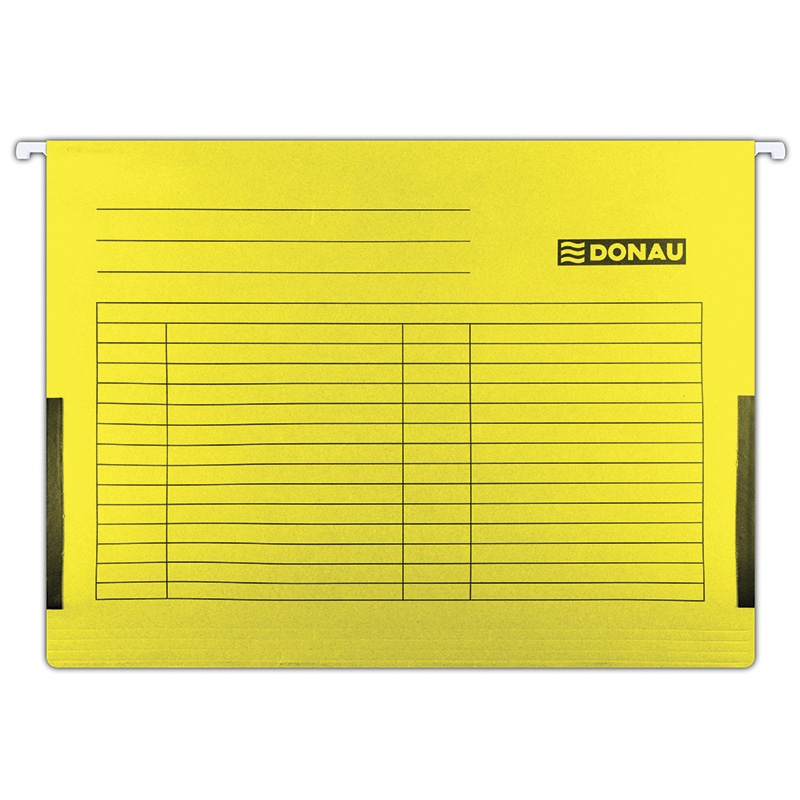Suspension File DONAU with side limiters, A4, 230gsm, yellow