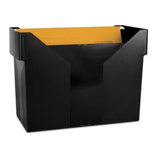 Mini archiwum DONAU, plastikowe, czarne, 5 teczek