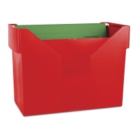 Minil Archive File Box DONAU, plastic, red, 5 files FREE
