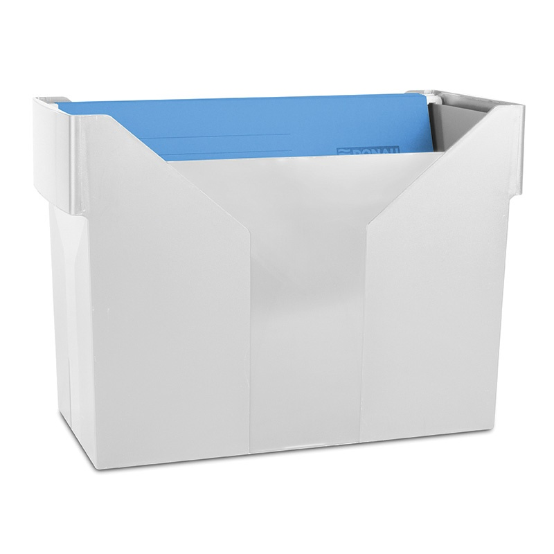 Mini Archive File Box DONAU, plastic, grey, 5 files FREE