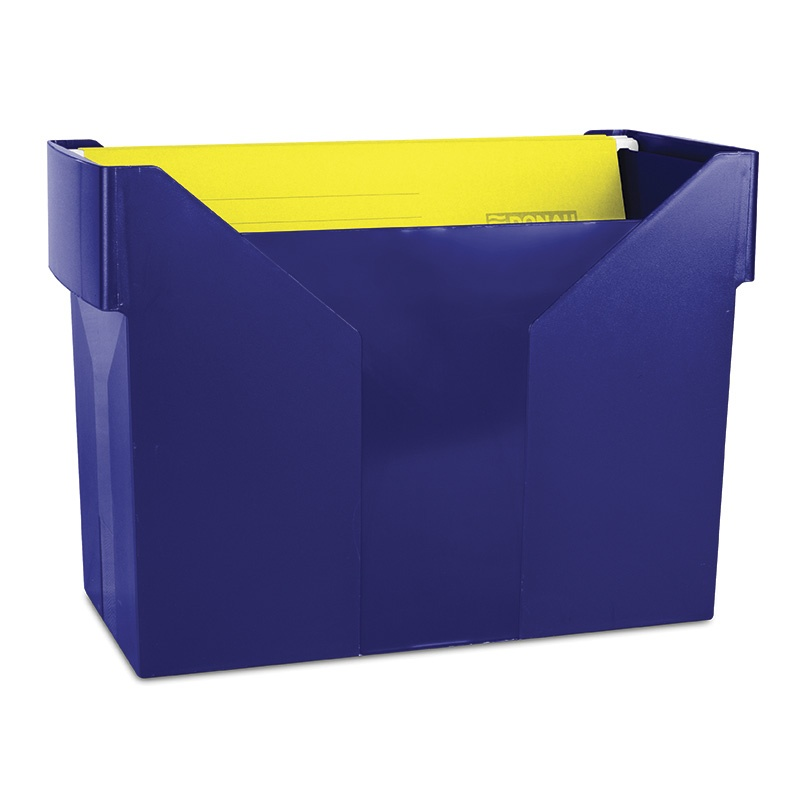 Mini Archive File Box DONAU, plastic, navy blue, 5 files FREE