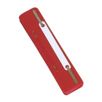 File Fasteners DONAU, PP, metal strip, 25pcs, red