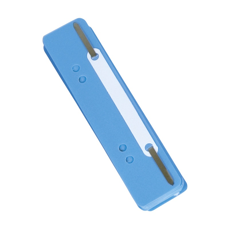 File Fasteners DONAU, PP, metal strip, 25pcs, blue