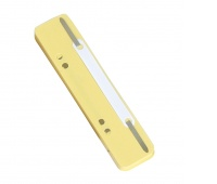 File Fasteners DONAU, PP, metal strip, 25pcs, yellow