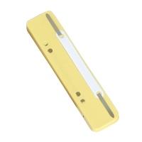 Wąsy skoroszytowe DONAU, PP, z metalową blaszką, 25szt., żółte, Wąsy, Archiwizacja dokumentów