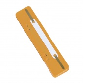 File Fasteners DONAU, PP, metal strip, 25pcs, orange