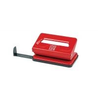 Dziurkacz SAX128S, dziurkuje do 12 kartek, czerwony, Dziurkacze, Galanteria biurowa