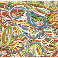 Rubber Bands DONAU, 500g, assorted colours