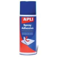 Klej w sprayu APLI, do repozycjonowania, 400ml, Kleje, Drobne akcesoria biurowe