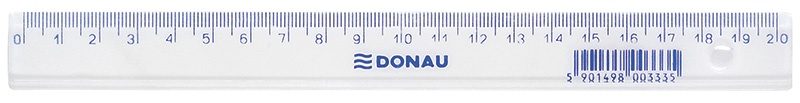 Ruler DONAU 20cm, clear