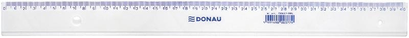 Linijka DONAU, 40cm, transparentna, Linijki, ekierki, kątomierze, Artykuły do pisania i korygowania