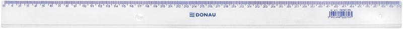 Linijka DONAU, 50cm, transparentna, Linijki, ekierki, kątomierze, Artykuły do pisania i korygowania