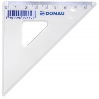 Set Square DONAU, small, 10cm, 45°, clear