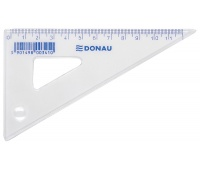 Set Square DONAU, small, 12cm, 60°, clear