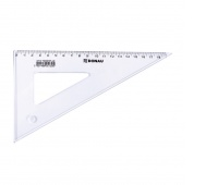Set Square DONAU, large, 19cm, 60°, clear