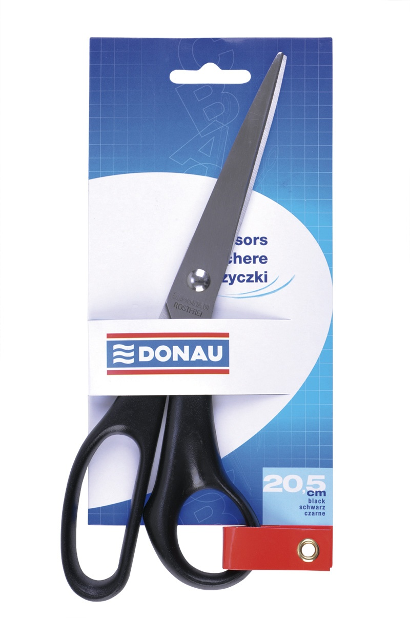 Office Scissors DONAU, classic, 20. 5cm, black