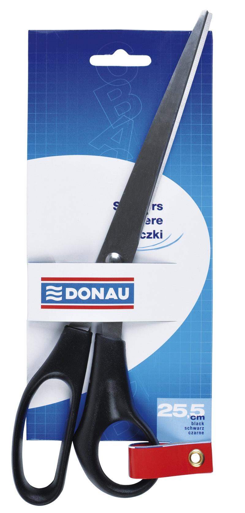Office Scissors DONAU, classic, 25. 5cm, black
