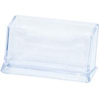 Business Card Holder DONAU polystyrene, clear