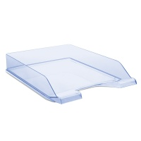 Desktop Letter Tray DONAU, polystyrene, A4, standard, blue