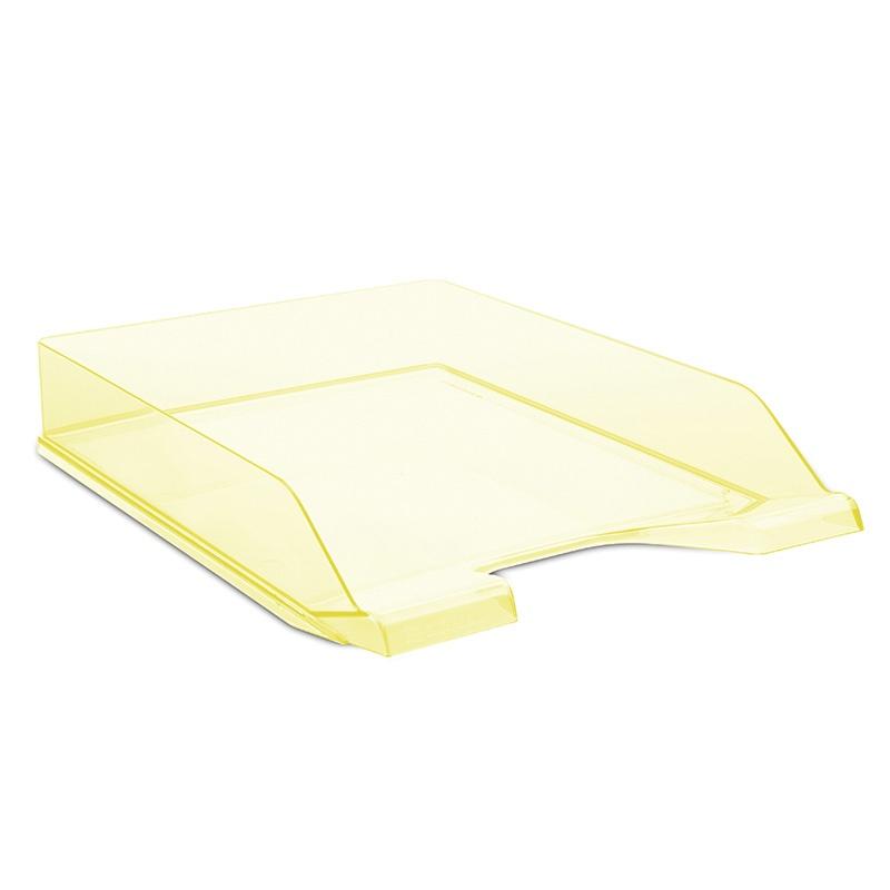Szufladka na biurko DONAU, polistyren, A4, standard, żółta, Szufladki na biurko, Drobne akcesoria biurowe