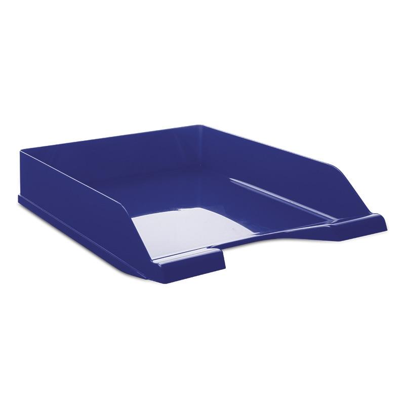 Desktop Letter Tray DONAU, polystyrene/PP, A4, standard, blue