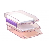 Dystansery do szufladek Cep ICE 238x61x22/2szt. jasnoróżowe, Szufladki na biurko, Drobne akcesoria biurowe