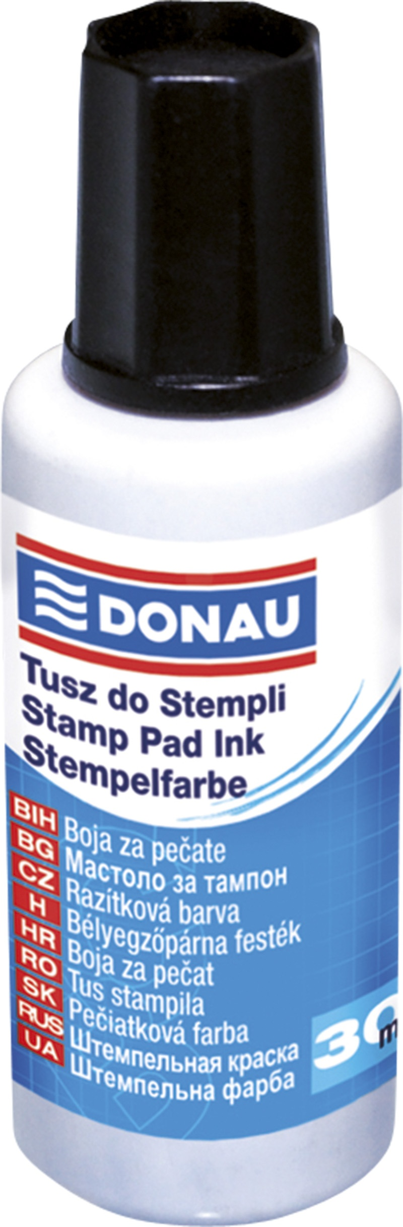 Stamp Ink DONAU, 30ml, black