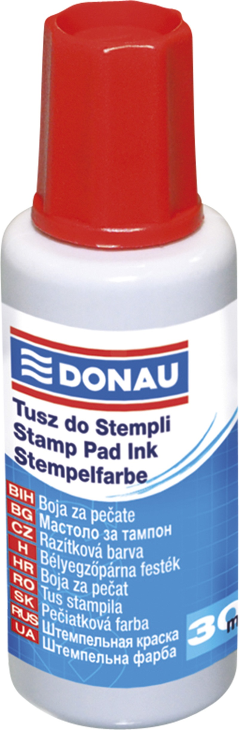 Stamp Ink DONAU, 30ml, red