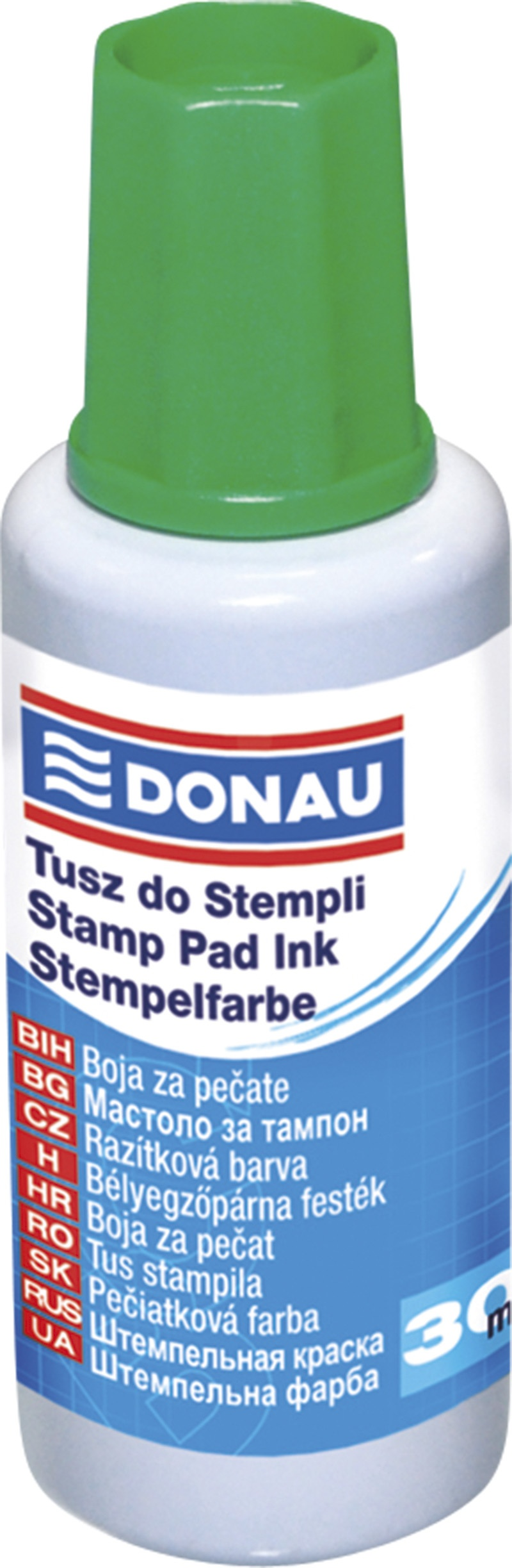 Stamp Ink DONAU, 30ml, green
