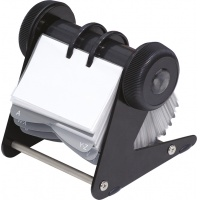 Desktop Rotary Card Holder DONAU, for 400 cards, black