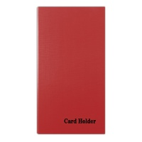 Business Card Ring Holder, DONAU, for 500 cards, red