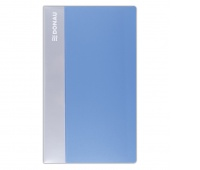 Business Card Album DONAU, PP, for 120 cards, light blue