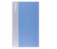 Wizytownik DONAU, PP, na 120 wizytówek, jasnoniebieski, Wizytowniki, Drobne akcesoria biurowe