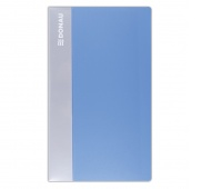 Business Card Album DONAU, PP, for 240 cards, light blue