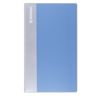 Wizytownik DONAU, PP, na 480 wizytówek, jasnoniebieski, Wizytowniki, Drobne akcesoria biurowe