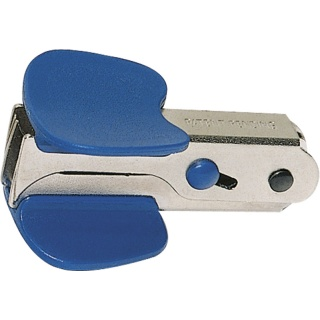 Staple Remover DONAU, with blade locking mechanism, navy blue