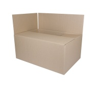 Cardboard Packing Box, with flaps, 540x360x236mm, grey