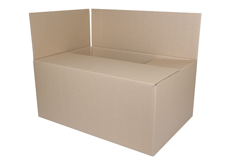 Cardboard Packing Box, with flaps, 550x400x322mm, grey