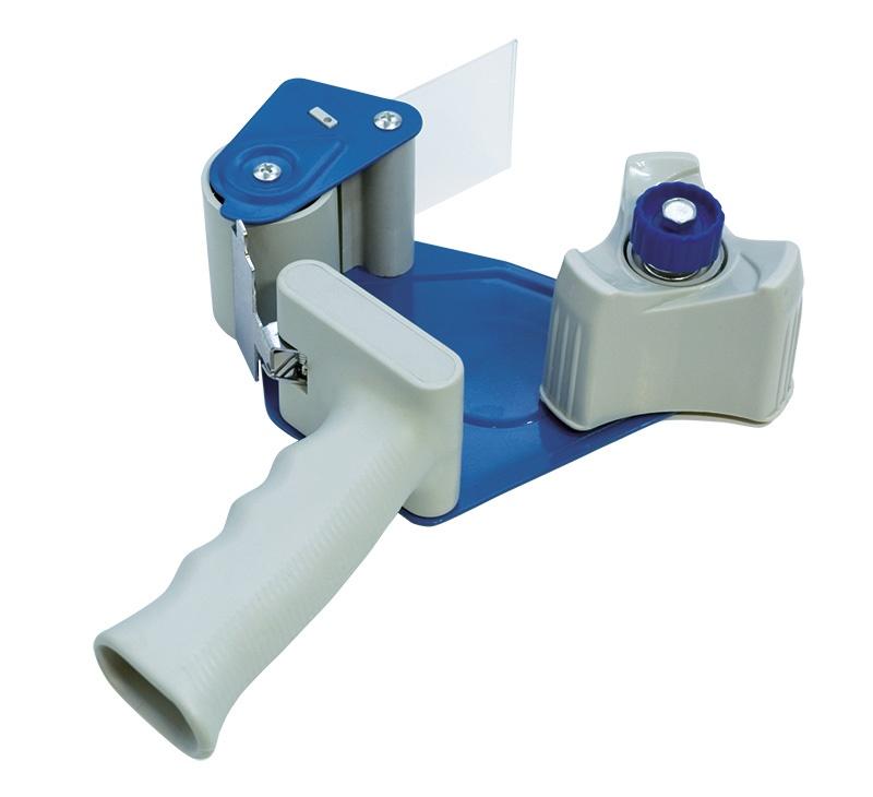 Dyspenser do taśm pakowych DONAU 2, szary/niebieski, Taśmy pakowe, Koperty i akcesoria do wysyłek