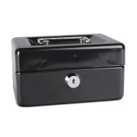 Kasetka na pieniądze DONAU, mała, 152x80x115mm, czarna, Kasetki na pieniądze, Wyposażenie biura